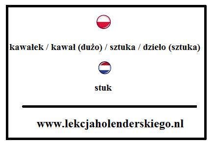 nauka niderlandzkiego holenderski stuk 1